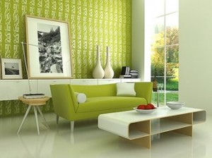 Lime Green Interior Decor