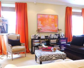 Soft Orange Interior Decor